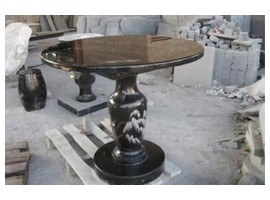 G684福鼎黑制作的圆桌子