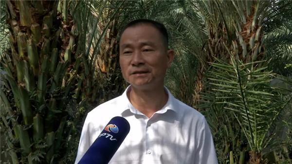 记者采访漳州陈坤辉