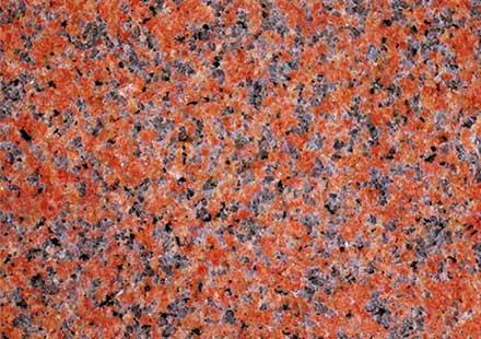 厨房灶台台面用的大红色花岗岩石板