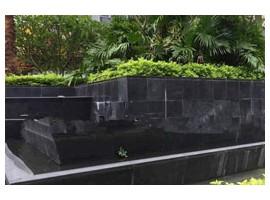 中国黑搭建喷泉流水池