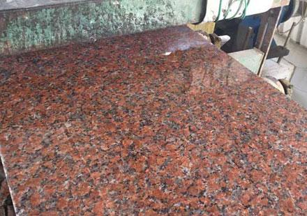 枫叶红大红光面石材