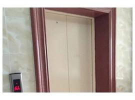 高档小区电梯中国红门框
