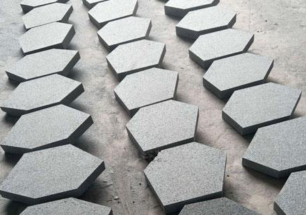珍珠黑六角方块