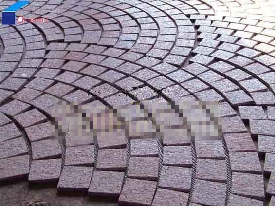 福建寿宁红扇形地铺石材