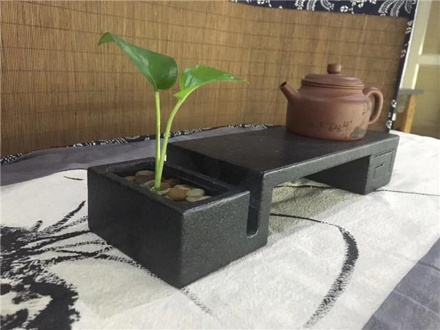 福鼎黑石材加工后的茶盘2