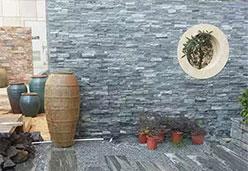 浪淘沙文化石铺设墙面案例