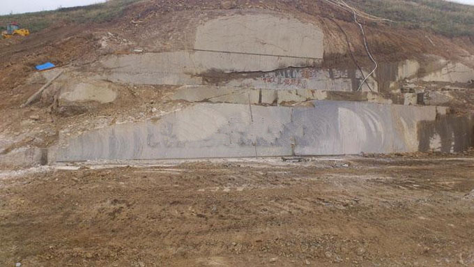蝴蝶兰石材矿山远景拍摄图