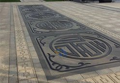 蒙古黑浮雕拼接板