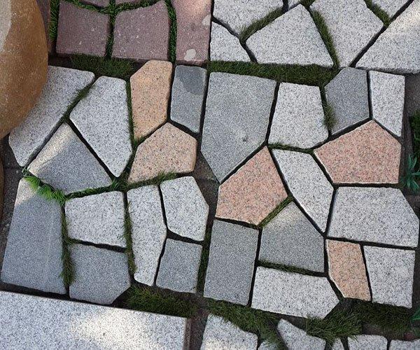 乱拼的花岗岩石砖——效果图