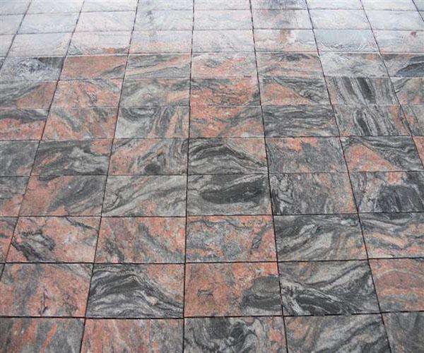 红黑色花岗岩地砖——效果图