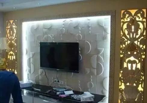 石材电视背景墙镂空设计