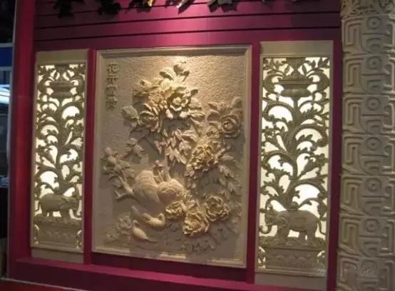 花石材背景墙