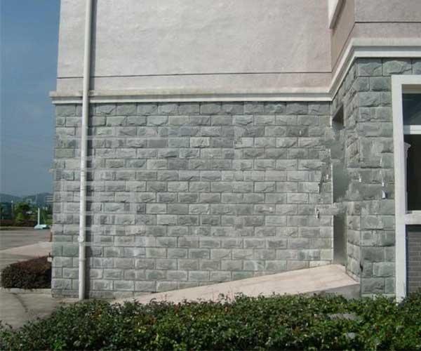 蘑菇石青石铺设外墙面1