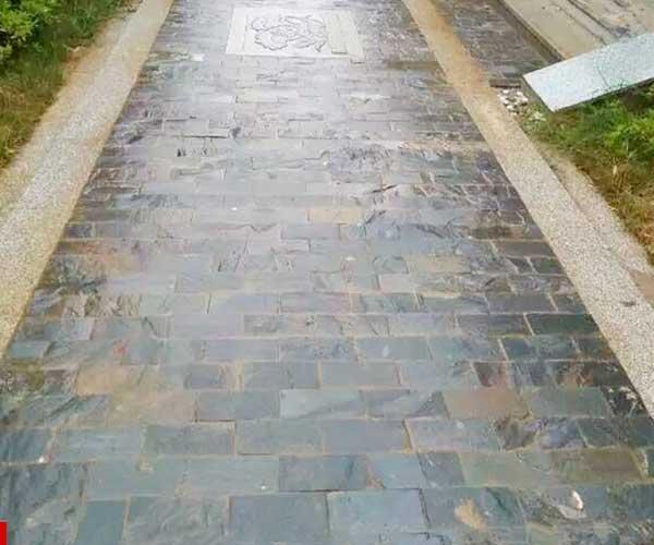 滨州青石板铺设人行道1