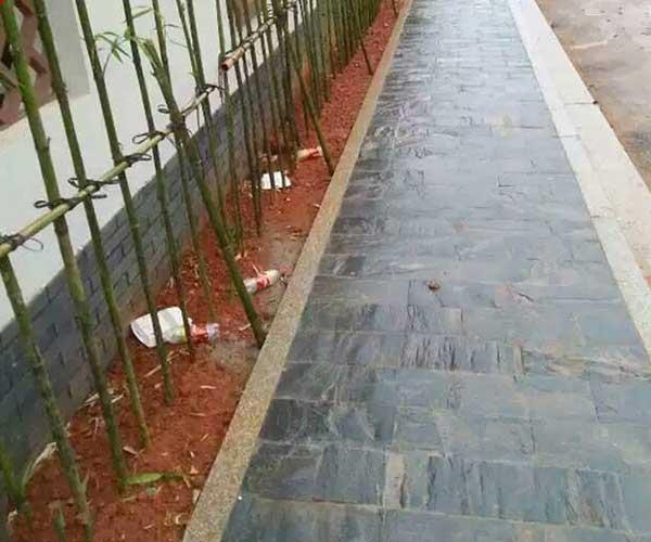 滨州青石板铺设人行道3