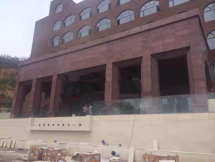 寿宁红石材建筑案例1