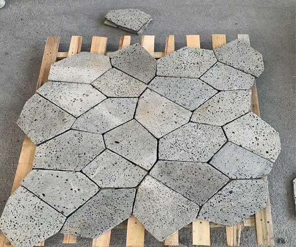 火山岩黑洞石2020年冰裂纹款式2
