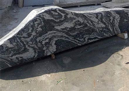 浪淘沙白云花岗岩异形板