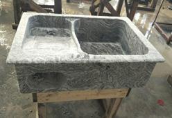 浪淘沙石材做的洗衣池