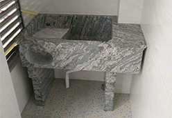中国浪淘沙花岗岩做的一整体式的洗衣池