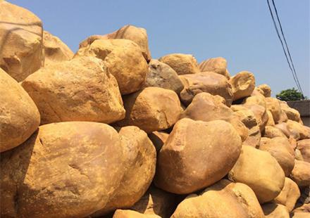 小块造景黄腊石自然石价格
