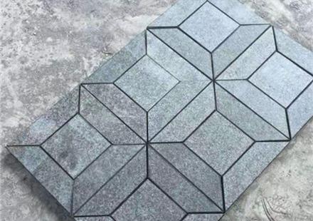 福鼎黑拼花造景石材,现货供应