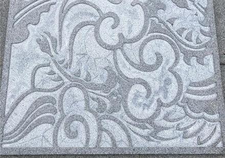 古朴的章丘黑雕刻,适用地铺